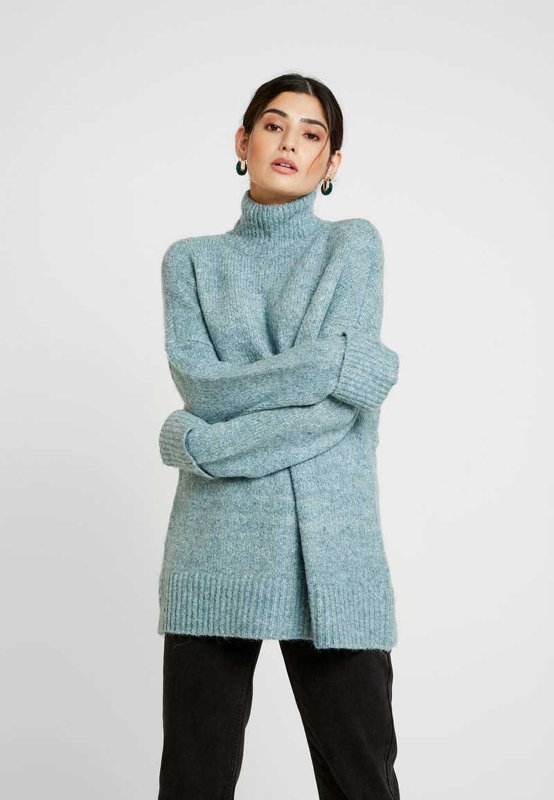 Vero Moda Petite - VMBERKO - Stickad tröja - north atlantic/melange