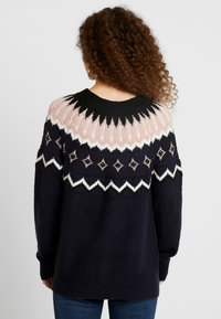 Vero Moda Petite - Jumper - night sky/black/pristine/misty rose - 2