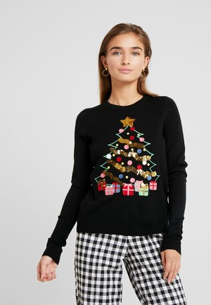 VMCHRISTMASTREE O-NECK - Jumper - black