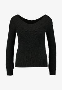 Vero Moda Petite - VMFENG BARDOT - Maglione - black melange - 4