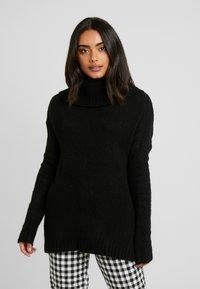 Vero Moda Petite - VMKIZZI LONG COWLNECK - Pullover - black - 0