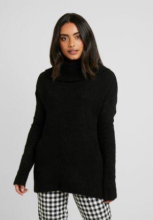 VMKIZZI LONG COWLNECK - Stickad tröja - black