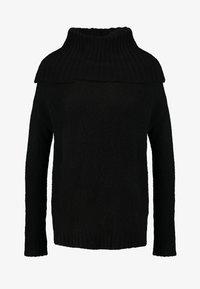 Vero Moda Petite - VMKIZZI LONG COWLNECK - Pullover - black - 4