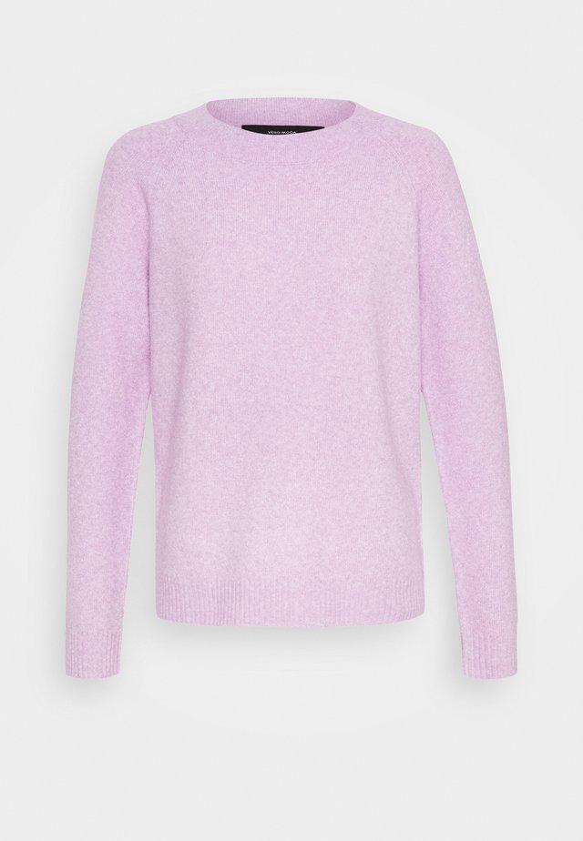 VMDOFFY NECK BLOUSE  - Jersey de punto - lilac