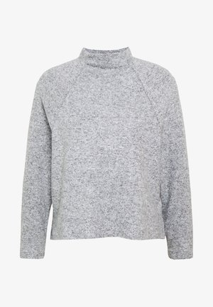 VMTAMMI HIGHNECK RAGLAN - Strikkegenser - light grey melange