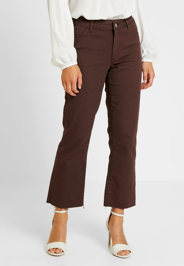 Flared jeans - coffee bean