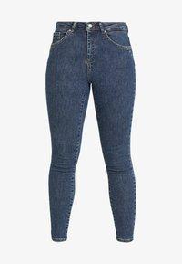 Vero Moda Petite - VMTERESA MR JEANS - Jeans Skinny Fit - dark blue denim - 4