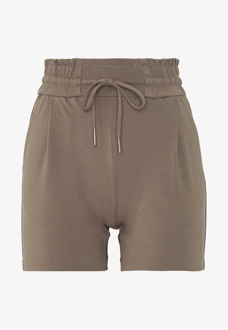 Vero Moda Petite - VMEVA SHORT RUFFLE - Shorts - grey