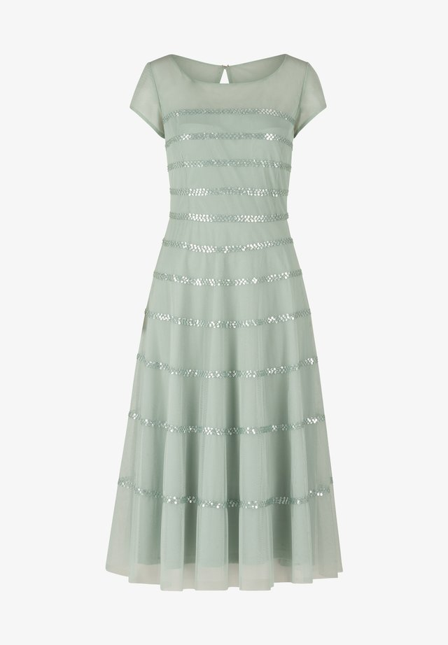 MIT STICKEREI - Cocktail dress / Party dress - gray mist