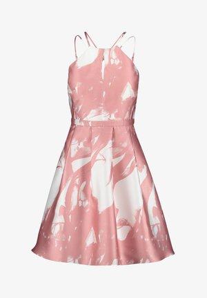 Cocktail dress / Party dress - White/Rosé