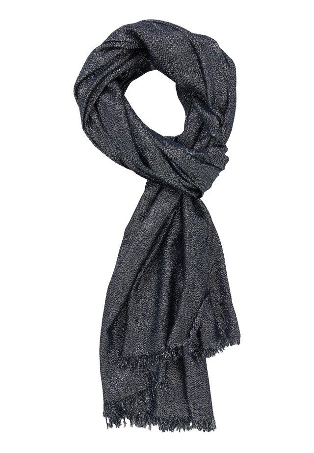STOLA IM GLITZER-LOOK - Scarf - dark blue/silver