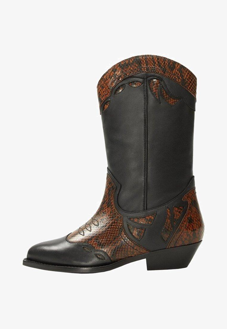 Violeta by Mango - MONROE - Cowboy/Biker boots - black