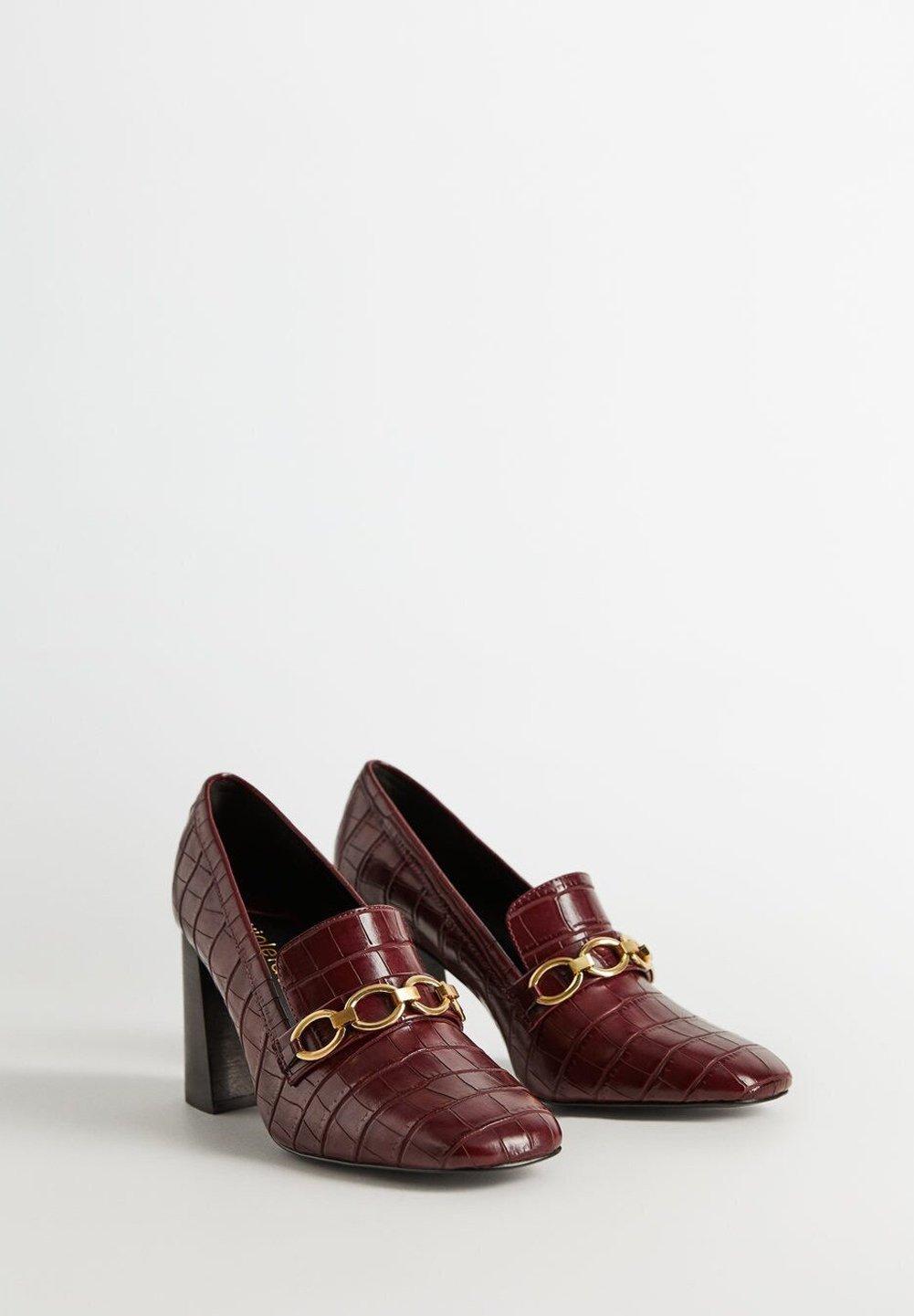 Violeta by Mango CHAIN - Klassiska pumps - bordeaux