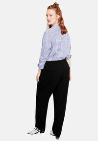 Violeta by Mango - LEONOR - Pantalon classique - black - 1