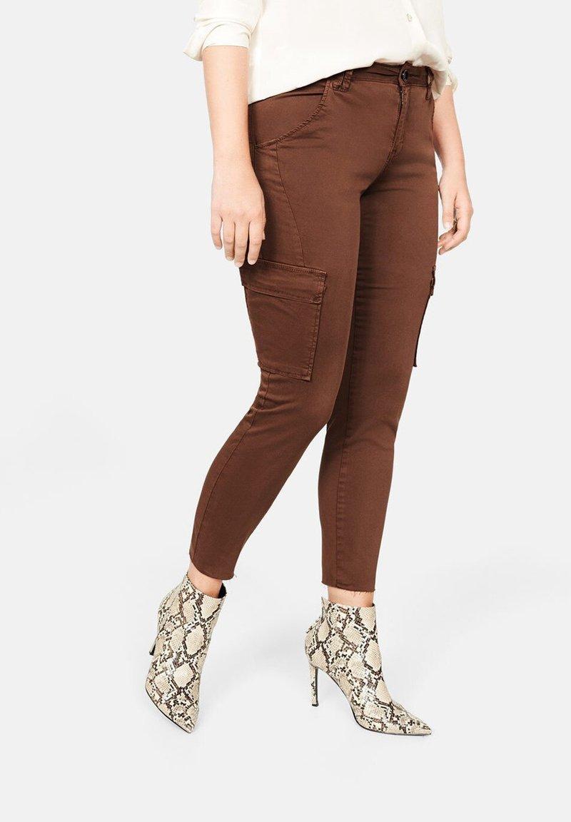 Violeta by Mango - CONGO - Cargo trousers - brownish orange