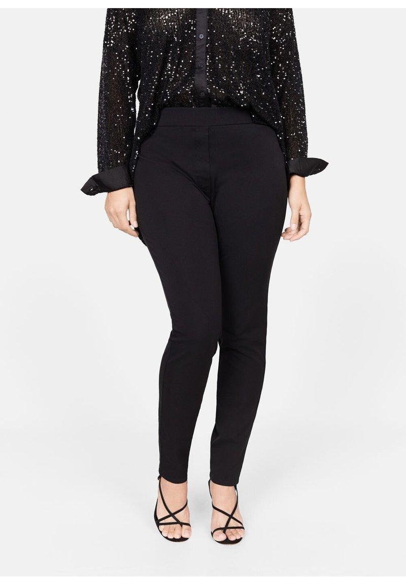 Violeta by Mango - ELASTIC - Trousers - black