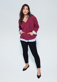 Violeta by Mango - SLIPY - Spodnie materiałowe - black - 1