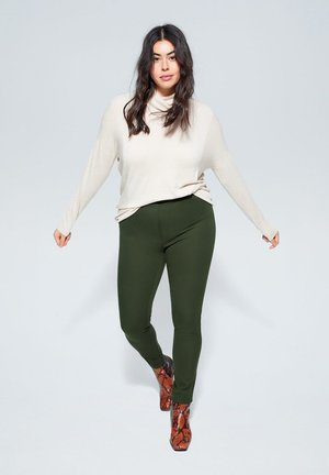 ELASTIC - Trousers - green