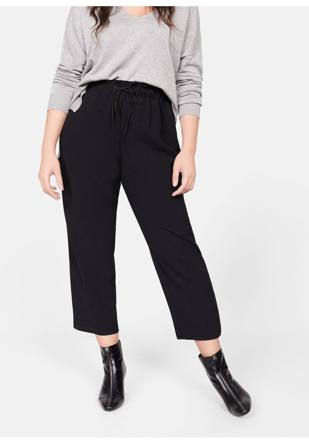 Violeta by Mango WAIKIKI - Spodnie materiałowe - black