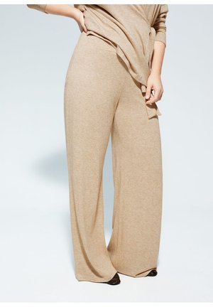 BRUSHED - Trousers - mittelbraun