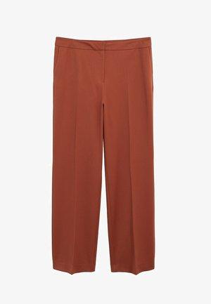 OZDU - Pantalon classique - bräunliches orange