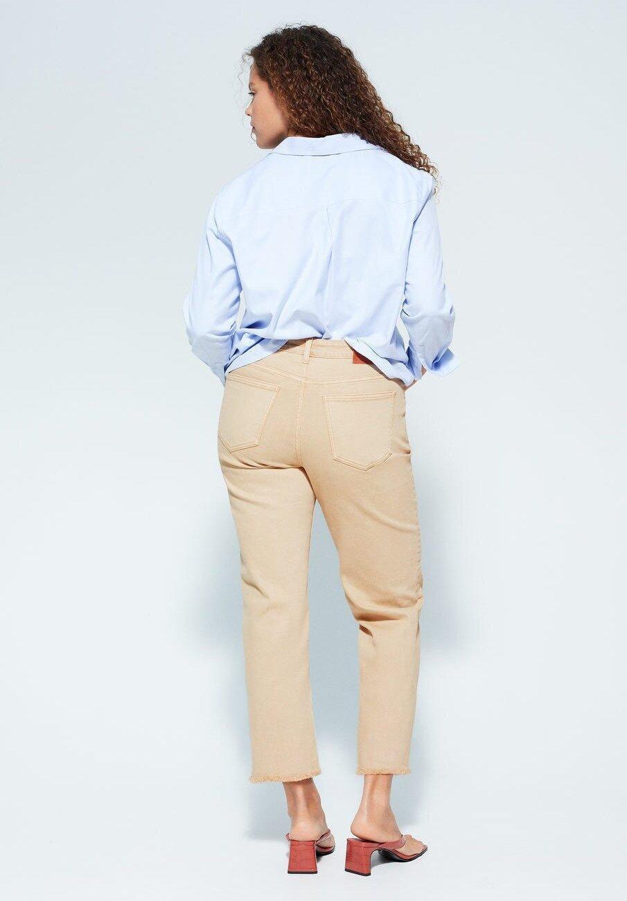Violeta by Mango ELIA - Jeansy Straight Leg - beige