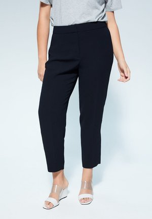 VERONIKA - Trousers - dark navy blue