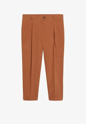 PLEAT - Trousers - bräunliches orange