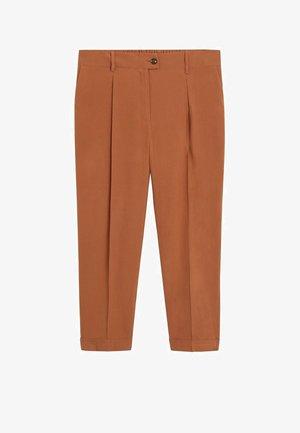 PLEAT - Pantalones - bräunliches orange