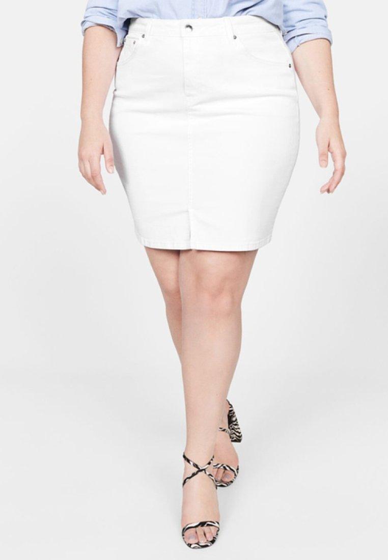 Violeta by Mango - INMA - Denim skirt - white