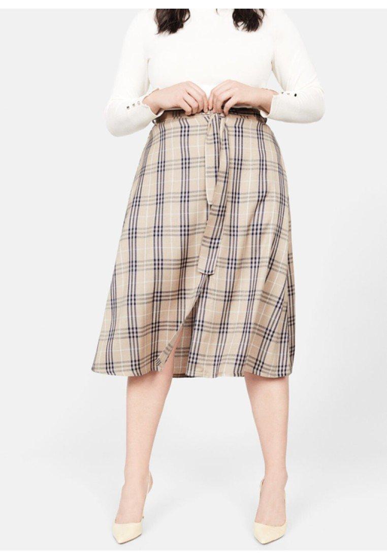 Violeta by Mango - COLA - A-line skirt - beige