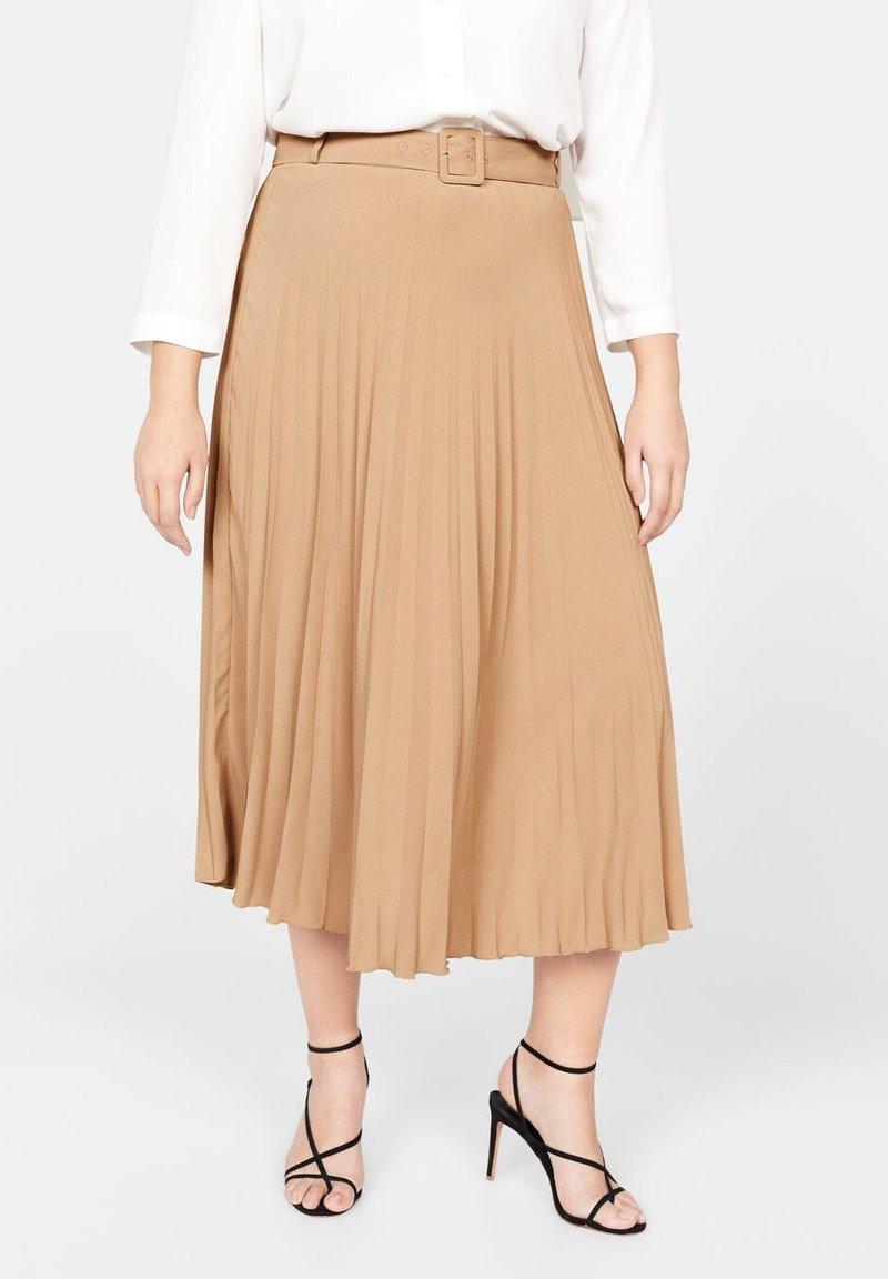Violeta by Mango - CAMELO - A-line skirt - brown