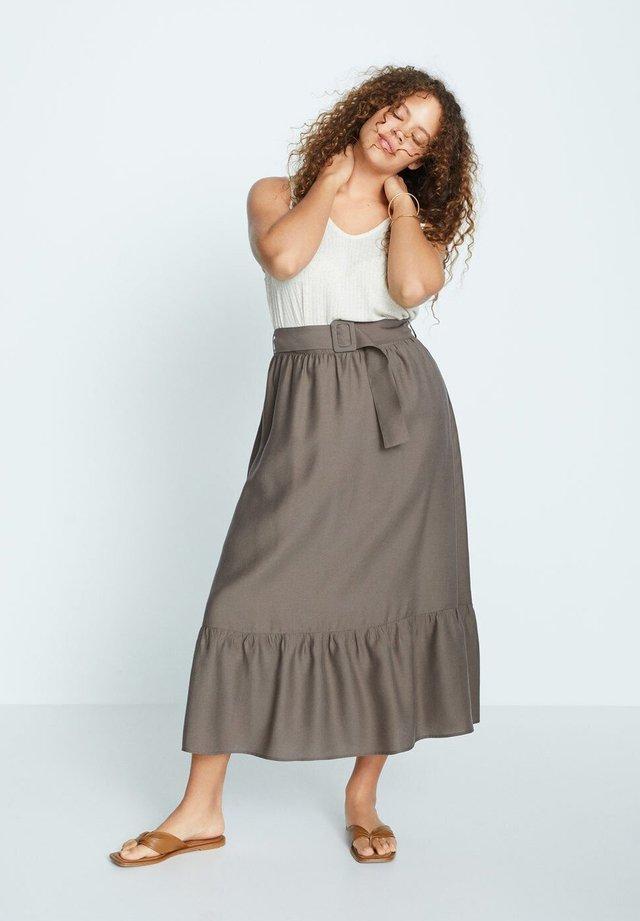 KAKI - A-line skirt - khaki