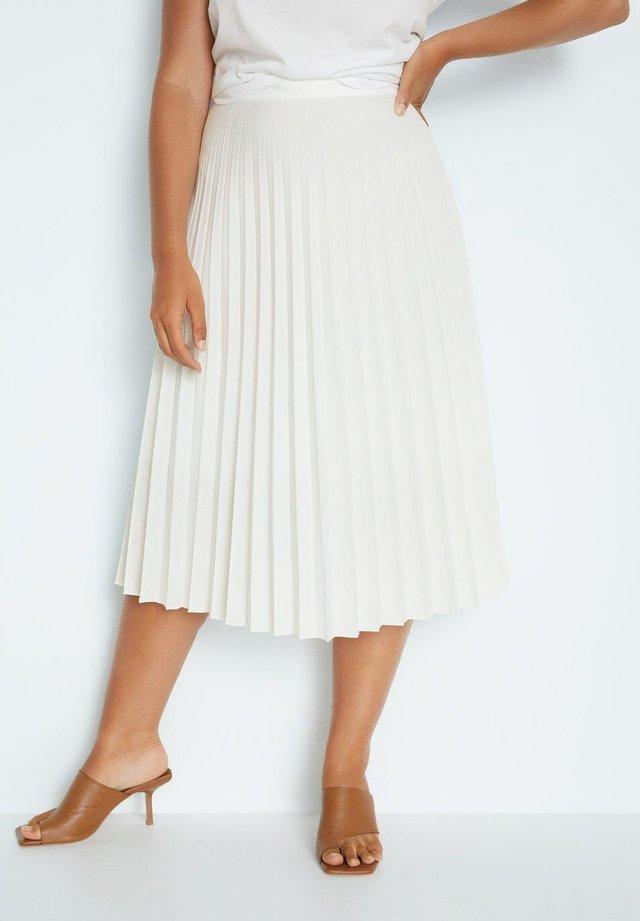 PAPEL - A-line skirt - weiß