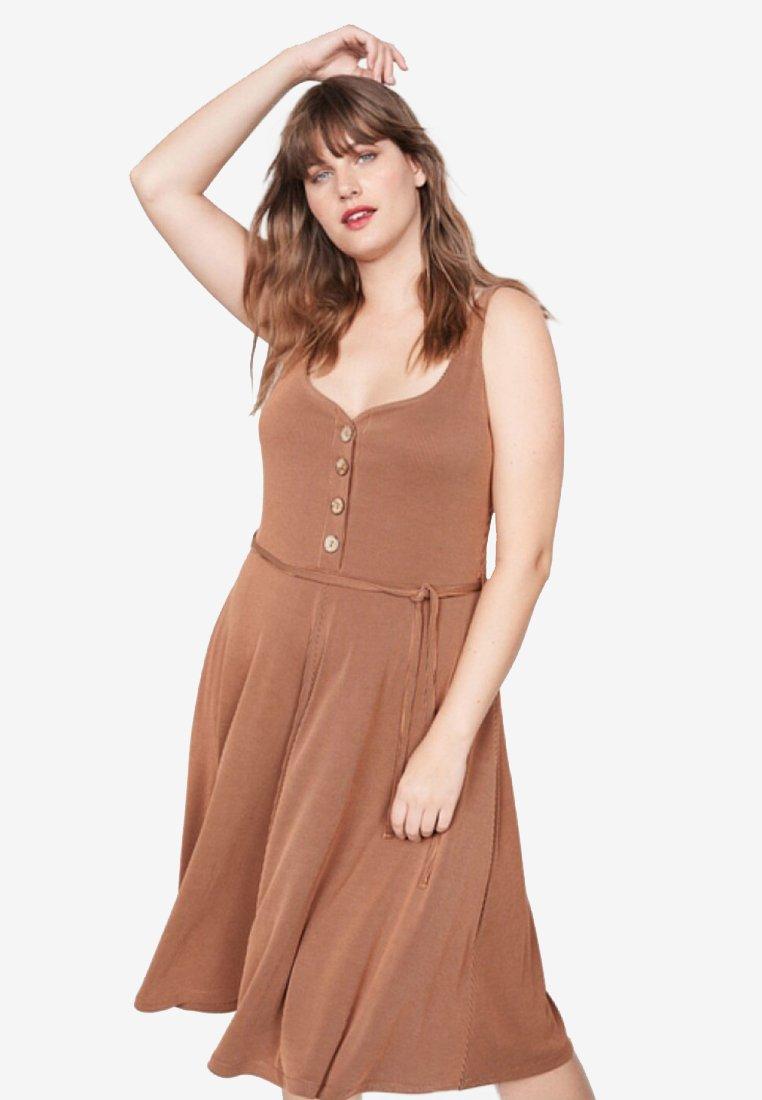 Violeta by Mango - ROCIO - Jersey dress - camel