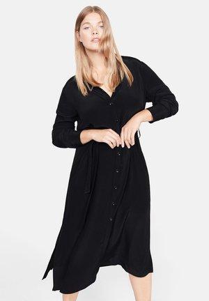 LEOPARD - Robe chemise - black