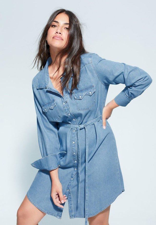 LONGO - Vestito di jeans - mittelblau