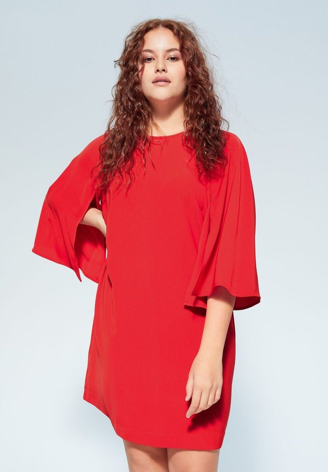 CRUCE6 - Korte jurk - rot
