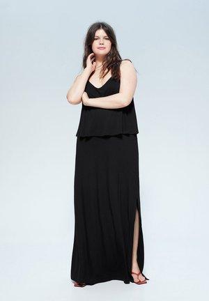 DOES - Maxi-jurk - schwarz