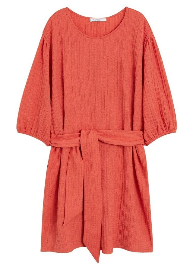 CORAL - Korte jurk - korallrot