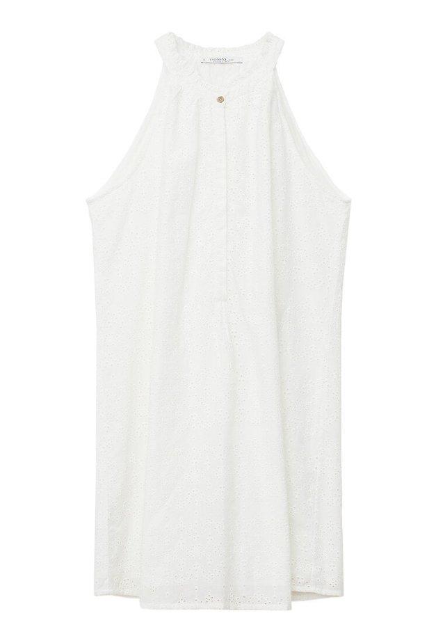 TRAPECIO-I - Korte jurk - weiß