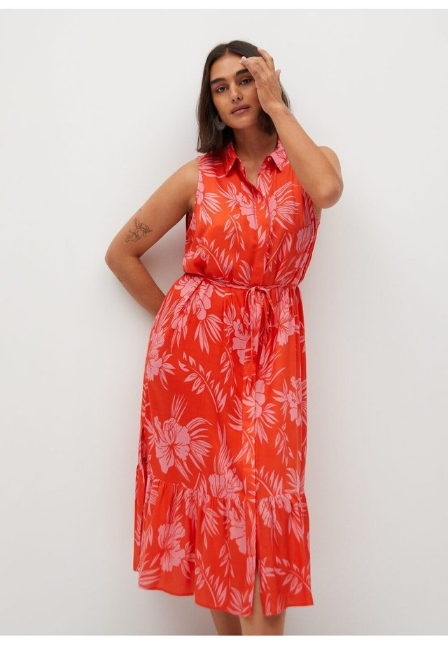 HAWAI - Shirt dress - korallrot