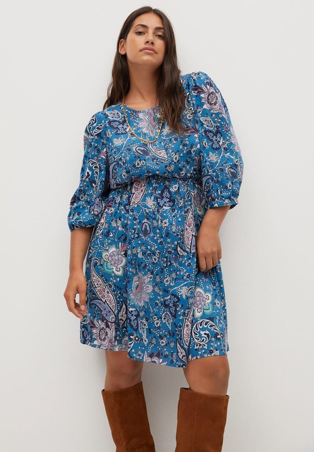 PLUMAS - Shirt dress - blue