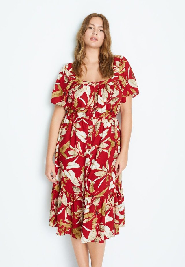 BUCARA - Robe chemise - rot