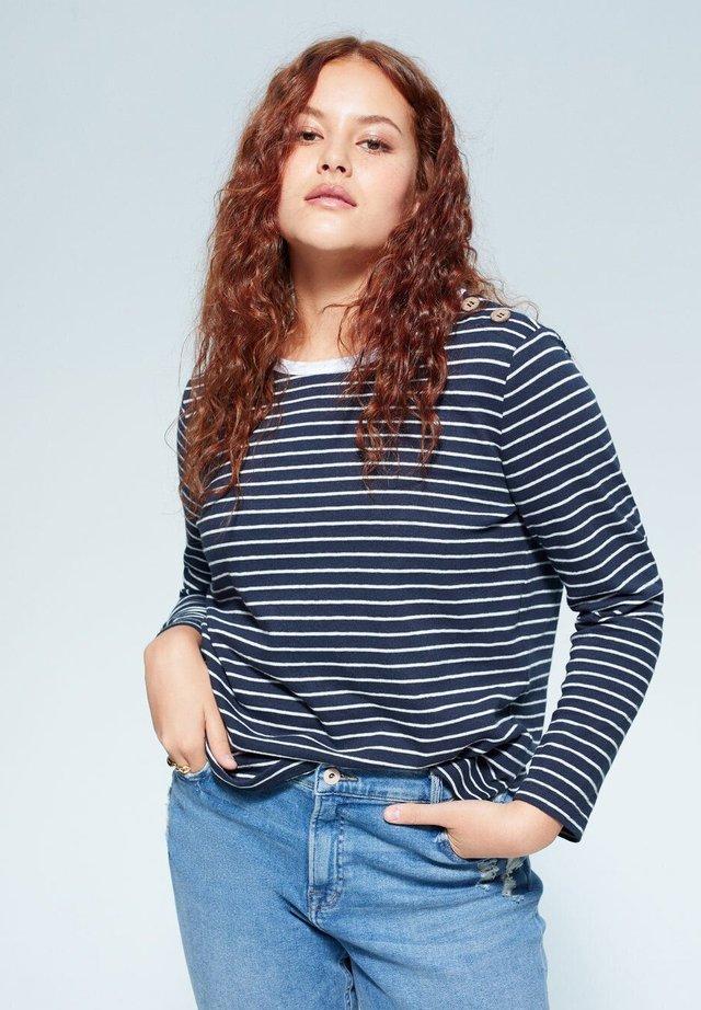 PARISIEN - Langærmede T-shirts - dunkles marineblau