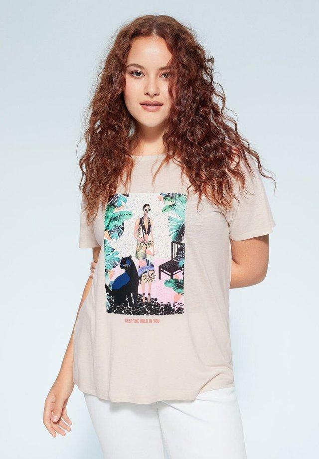 TROPICAL - T-shirts print - ecru