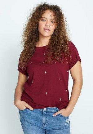EASYLUX - T-shirts print - donkerrood