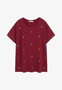 Violeta by Mango - EASYLUX - T-shirts print - donkerrood - 4