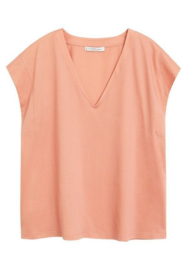 PEACHY - Basic T-shirt - pfirsich