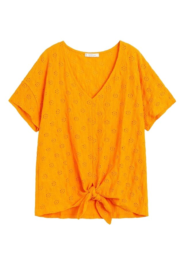 BERNA - T-shirt z nadrukiem - orange